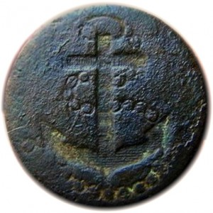 1774-87 Royal Navy Captains 16mm cuff gilt brass georgewashingtoninauguralbuttons.com O
