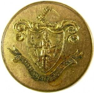 1836 Mass cohannet Rifle Corps 22mm brass albert ms88 georgewashingtoninauguralbuttons.com o