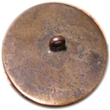 GWI 15-A 32mm Brass found in Box of Goodyear buttons by Simone Idaho State Kincaid Button Society.A-5