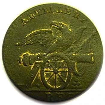 1808-11 Federal Artillery Regiment 21mm brass AY 47-B georgewashingtoninauguralbuttons.com o