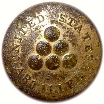 1808 Artillery 2nd Regiment slightly Convex 23mm Gilt Brass AY 30 RJ Silverstein's Georgewashingtoninauguralbuttons.com R