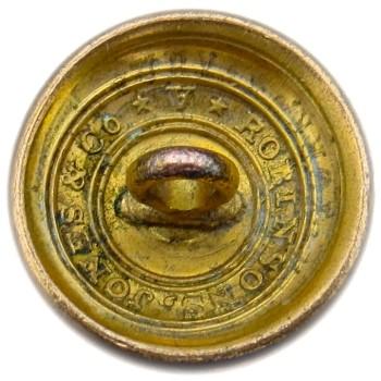 1821-30's Federal Artillery 20.01 Gilt Brass 20.02mm Orig Shank AY 199 D.5 AY 64 RJ Silversteins georgewashingtoninauguralbuttons.com R