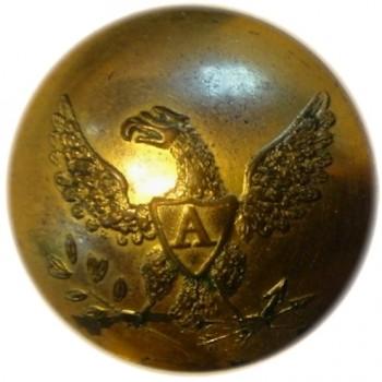 1821-36 Artillery 23mm Brass non dug Tice 199 D RJ Silverstein's georgewashingtoninauguralbuttons.com O