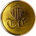 1832 Topographical Engineers 23mm convex brass georgewashingtoninauguralbuttons.com O