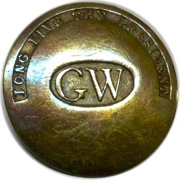 GW Inaugual Button circa RJ Silverstein's georgewashingtoninauguralbuttons.com B-6