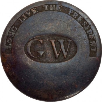 GWI 11-B 34mm Copper Orig shank HA Auctions April 2015 georgewashingtoninauguralbuttons.com A 45