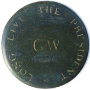 GWI 8-A 35mm GW Roman Monogram RJ Silverstein's geoorgewashingtoninauguralbutton O