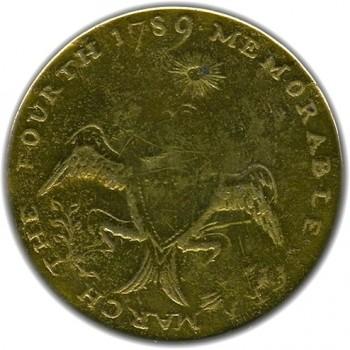 WI 1 34mm Brass ebay 3-5-13 $1691. Replaced Shank RJ Silverstein's georgewashingtoninauguralbuttons.com A-37