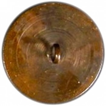 WI 1-C 34mm Copper Lathe Turned Button rj Silverstein's georgewashingtoninauguralbuttons.com C-3R