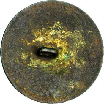 WI 11-A Brass 34mm Gilt Brass 93.9 Grains Bent Shank Brown & Green Stacks Auctions March 2013 $0000 georgewashingtoninauguralbuttons.com A-43r