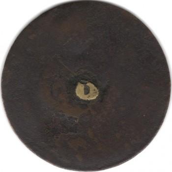 WI 11-B 34mm Brass RJ Silverstein Georgewashingtoninauguralbuttons.com ebay $1k