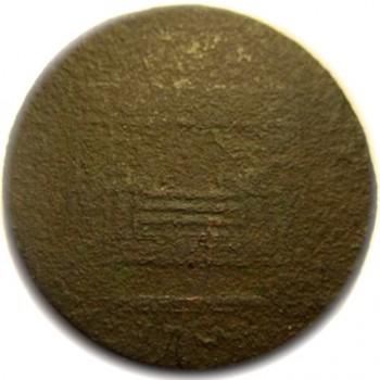 WI 22-A Folk Art Rendition on a coin georgewashingtoninauguralbuttons.com R
