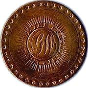 WI 6-A GW BRASS 33 MM 36 IMPRESSIONSRJ Silverstein's georgewashingtoninauguralbuttons.com O