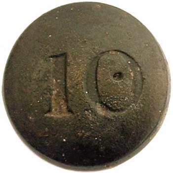 10 Reg of Foot 18mm Pewter excav. kieth nixon in carolinas in 2007