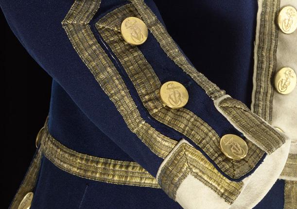 1774 Full Dress Coat of a Captain Frock Blue Wool