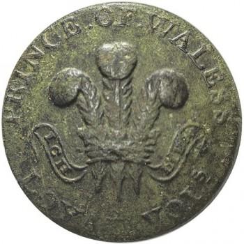 1775 Prince of Wales Loyal Volunteers 24mm orig Shank Uncleaned Spelling error-s $170. 08-07-14