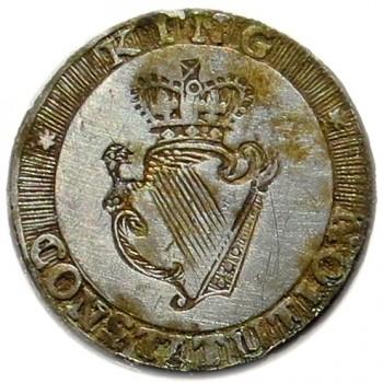 1776-83 King & Constitution 18.59mm Silvered Copper Orig Shank georgewashingtoninauguralbuttons.com LLTK-6