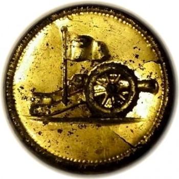 1776 Continental Artillerry Copper Shell Gilt Wood back Cat Gut Cord W leigh RJ Silversteins georgewashingtoninauguralbuttons.com CA-1