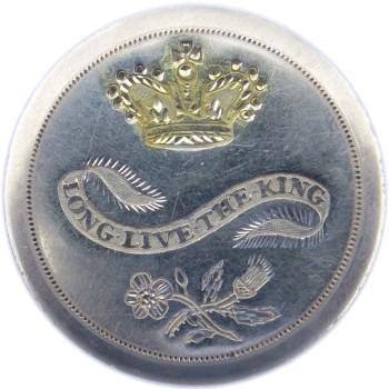 1789 Long Live The King 36.27mm RJ Silversteins Georgewashingtoninauguralbuttons.com O