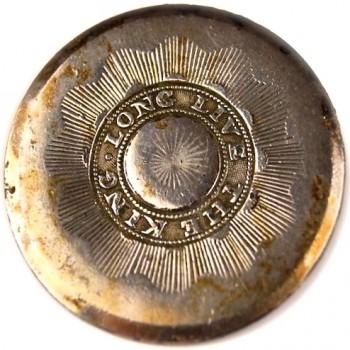 1789 Loyalist Long Live the King 34.1mm Sheffield Silver Dug Portland Maine Captain George Tate House georgewashingtoninaugralbuttons.com LLTK-4