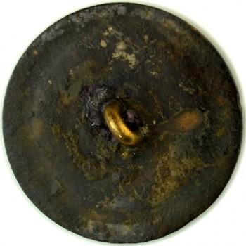 1789 Tory or Loyalish Long Live the King 30mm Copper Sun Burst W- Crown Repaird Shank rj silversteins georgewashingtoninauguralbuttons.com LTTK-9r