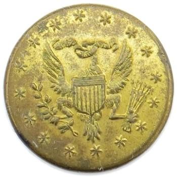 1798-1802 US Diplomateic Service 15.71mm Gilt Brass Orig Shank OD2Av. RJ Silversteins georgewashingtoninauguralbuttons.com O