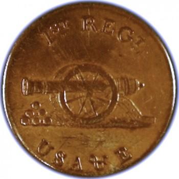 1799-1802 Artillerist & Engineer 1st Regt. Orig Shank RJ Silversteins george washington inaugural buttons.com O
