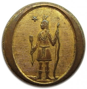 1800-25 Massachusetts Militia 23mm Gilded Brass rj silverstein's georgewashingtoninauguralbuttons.com o