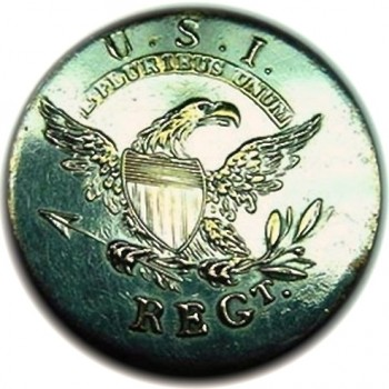 1808-12 Infantry Officers 24mm silver plated Alberts GI 53R1 georgewashingtoninauguralbuttons.com OJ. Baldwins copy