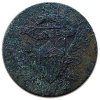 1808-1820-u-s-federal-dragoon-officer-23mm-gilt-brass-orig-shank-dug-in-newfane-v-t-rj-silversteins-georgewashingtoninauguralbuttons-com-o