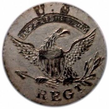 1808-25 Infantry milita 1 arrow 24mm silver plate-GW Hunter-RJ-Silverstein-georgewashingtoninauguralbuttons.com O