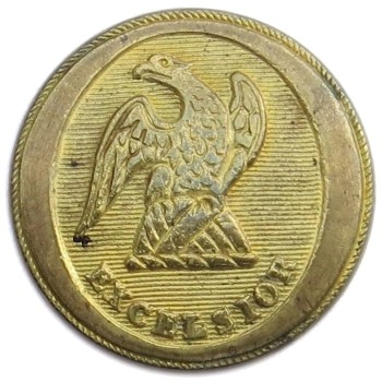 1812-1829 New York State Militia 22.39mm Gilt Brass NY100A.15 : NY 10 georgewashingtoninauguralbuttons.com O