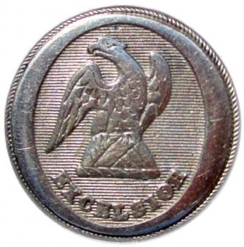 1812-1830 NY 10-A Post Revolution New York Militia 23mm georgewashingtoninauguralbuttons.com O