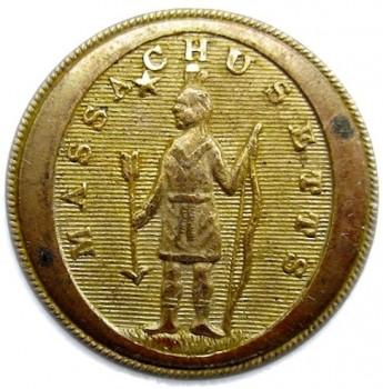 1812-30 Mass Militia General Service button 25mm Gilded Brass georgewashingtoninauguralbuttons.com O