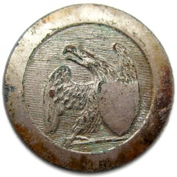 1812 US Infantry GI-51 I Silvered Silvered Copper rj silverstein georgewashingtoninauguralbuttons.com o