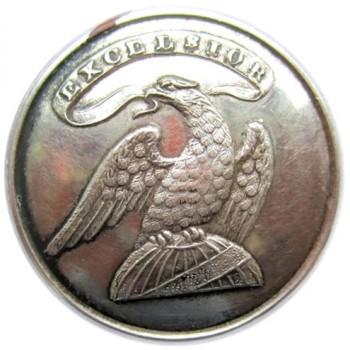 1815-30 NY Militia 21mm NY 11 Silvered Copper RJ Silverstein's georgewashingtoninauguralbuttons.com 0