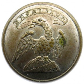 1815-30 New York Militia 21.10mm Silver Copper Orig Shank Albert's NY 13:Tice 110A.10 PD $75.00 02-01-13
