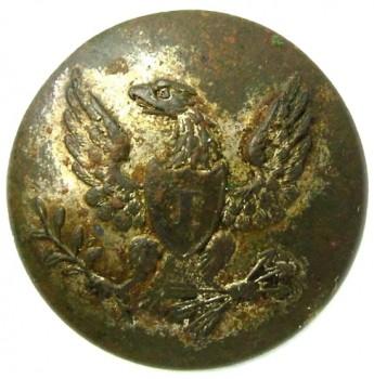 1820-30's federal infantry 19mm plated georgewashingtoninauguralbuttons.com O