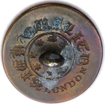 1820's Massachusetts Militia 22.36mm Gilt brass MS110B.1 - MS 27 Orig Shank RJ Silversteins georgewashingtoninauguralbuttons.com R