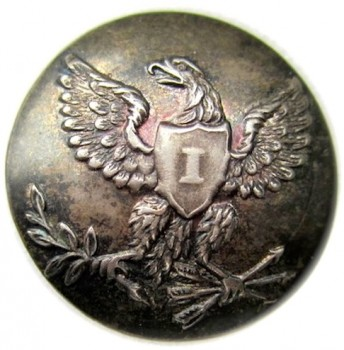 1821-40's Infantry 19mm Silver Plated Copper Albert GI79 Tices GI200 D.4 georgewashingtoninauguralbuttons.com r