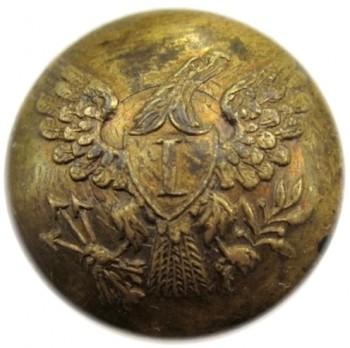 1830-40 US Infantry GI 80 19mm G.brass RJ Silverstein's georgewashingtoninauguralbuttons.com O1