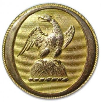 1830-40's New York State Militia 23mm Gilt Brass georgewashingtoninauguralbuttons.com O