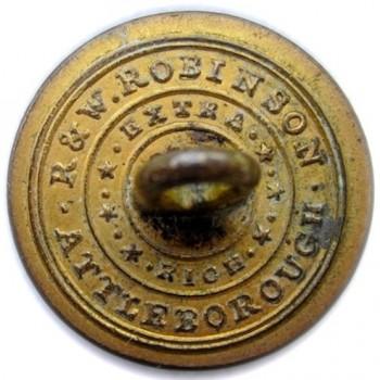 1830's Maine Militia 21mm Brass A Beveled 5 Point North Star georgewashingtoninauguralbuttons.com R