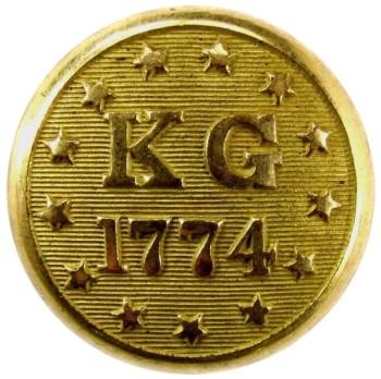 1835-55 Rhode Island Kentish Guard, East Greenwich 22.7mm Gilt Brass RI221Unlisted Albert RI22 georgewashingtoninauguralbuttons.com O