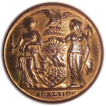 1840-50 New York Militia General Use 15mm Gilt Brass NY216As.3 NY 26 georgewashingtoninauguralbuttons.com O