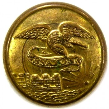 1840-50's Engineers 15mm Gold Plate georgewashingtoninauguralbuttons.com O