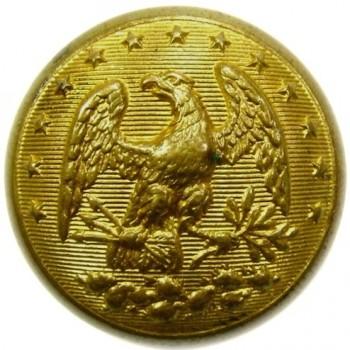 1840-50's Florida 2mm State Seal Militia 20mm gild brass georgewashingtoninauguralbuttons.com o
