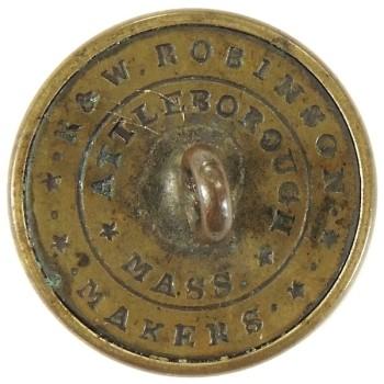 1840-Post Civil War Massachusetts Vol. Militia 22mm MS 210 d.1 MS 35 RJ Silversteins goergewashingtoninauguralbuttons.com T