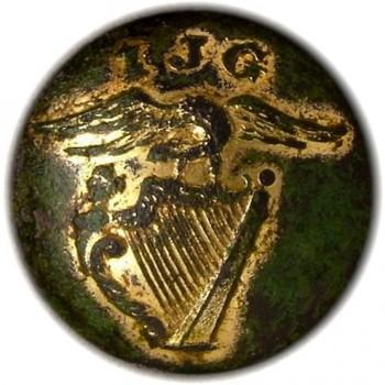 1840's Irish Jasper Greens Savannah Georgia 22mm gilded brass 22mm georgewashingtoninauguralbuttons.com o