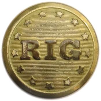 1843 Rhode Island Guard 22.74mm Gilt Brass RI242A.1 RI31 PD $200 02-16-16 Georgewashingtoninauguralbuttons.com O